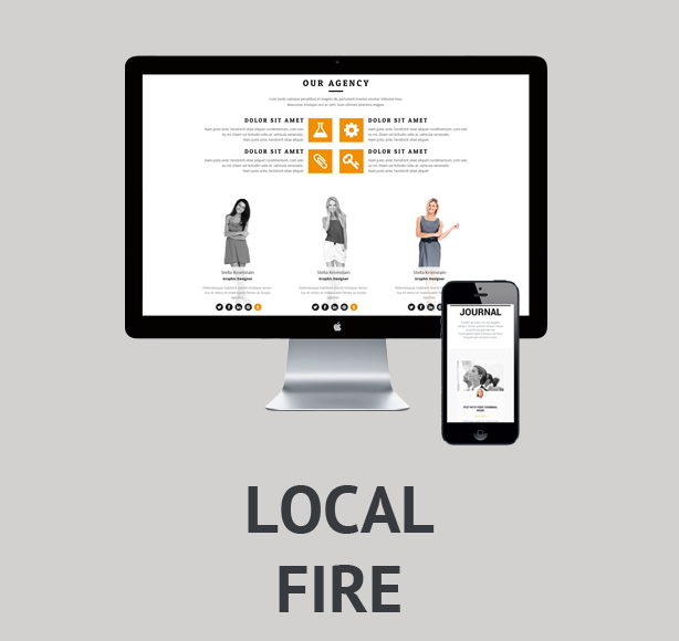Local Fire - clean and simple theme