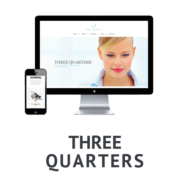 Three Quarters - Single Page/Multipurpose theme